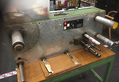 Foil slitter and material rewinder.  Well used but rare and plenty of use left