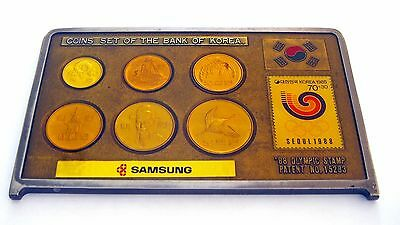 >>> South Korea, 1988 Coins and Stamp, Olympic Set <<<