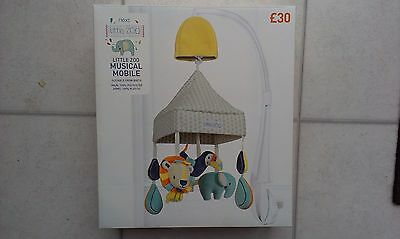 Next Baby Boutique Little Zoo Nursery Musical Cot Mobile  - BNIB