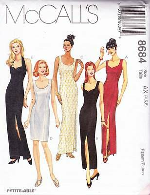 ~UNCUT McCall's Sewing Pattern 8684 Fitted Lined Dress Size 4-6-8~