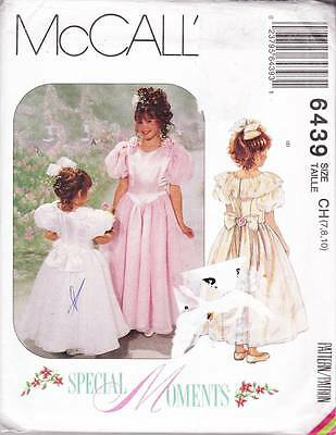 ~UNCUT McCall's Pattern 6439 Special Moments Formal Dress & Petitcoat  S 7-10~