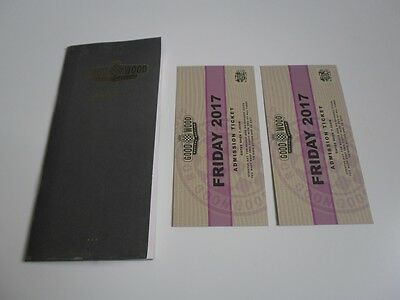 2017 GOODWOOD REVIVAL FRIDAY TICKETS UNUSED NEW WITH BOOKLET PAIR x2