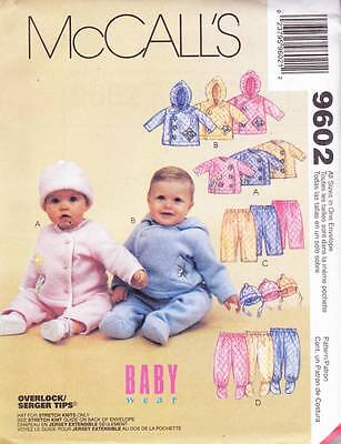 ~UNCUT McCall's Sewing Pattern 9602 Infants Jacket, Pants & Hat All Sizes~