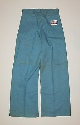 vtg 1940s NUNNALLYS DENIM SAILOR DUNGAREE pants deadstock nwt size 10 sanforized