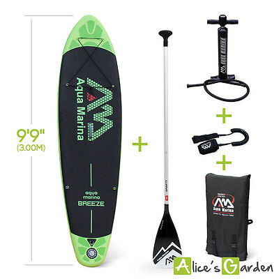 "Pack stand up paddle gonflable Breeze 9'9"" avec pompe haute pression, pagaie, le"
