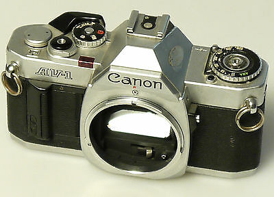 (PRL) CANON AV1 BODY 135 35 mm SLR SPARE PARTS FOTORIPARATORE REPAIR KAMERA