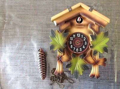 Antique Black Forest Cuckoo Clock For Restoration Or Spare Parts 22x17x10cm.