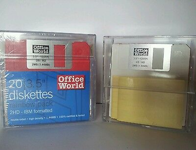 """20 office world diskettes 3.5"""" + 6 free"""
