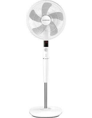 NEW Kambrook 40cm Pedestal Fan with DC Motor: White: KPF849WHT