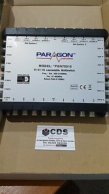 Paragon Satellite Multiswitch Cascadable  9X9X16 PGN75916