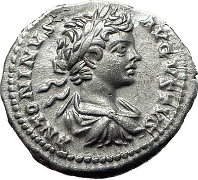 CARACALLA 200AD  Silver Authentic Genuine Ancient Roman Coin SOL SUN Rare i61523