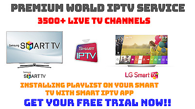 3 Months Smart IPTV for Samsung, LG & Sony Android Smart TV's