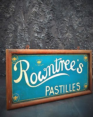 1960s Hand Painted Vintage Rowntree's advertising Sign