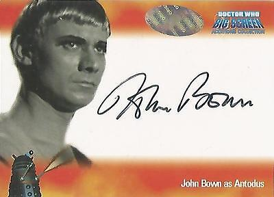 """Doctor Who Big Screen Additions - A1 John Bown """"Antodus"""" Autograph Card"""