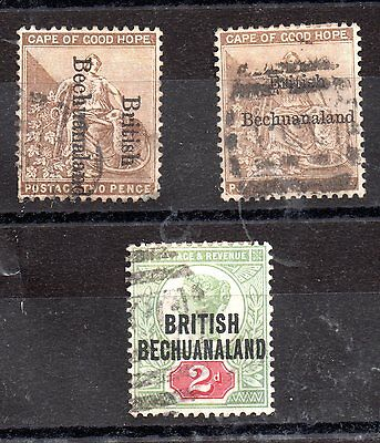 British Bechuanaland 2d overprints (3 different) used WS4321