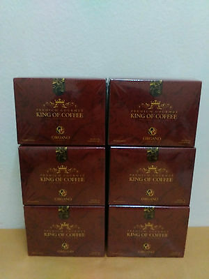 6 Boxes Organo Gold King Of Coffee With Ganoderma Lucidum - Express Delivery