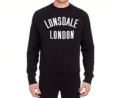 Lonsdale Men's Caden Crew Sweater - Black/White