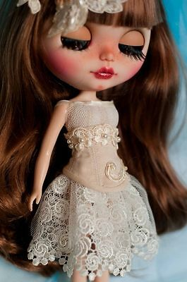 Corset, trousers, skirt, top and hairpin-flower for Blythe Custom Clothes Dress
