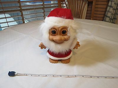 Russ Troll Trolls doll RARE Berrie 18282 Grey white hair Christmas Claus Santa