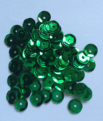 Choose from 7 colours - SEQUINS - Round Cupped Shape / Size 6-7mm QTY Approx 500