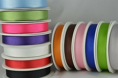 10 metres of Grosgrain Ribbon - 10 mm 25 mm widths Double Sided Good Quality