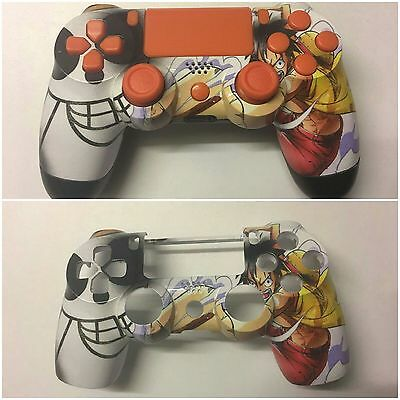 "PS4 Controller Gehäuse Oberschale Unikat ""One Piece Ruffy"" Devil Customs Austria"