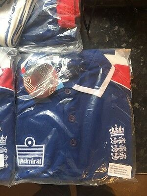 Large ADMIRAL VODAFONE RED WHITE BLUE ENGLAND CRICKET POLO SHIRT