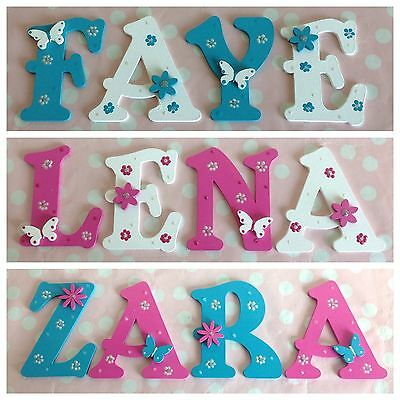 Personalised Child Kids Wall Door Wooden Letters Name Plaque Gift Any Name/Theme