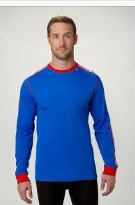 Helly Hansen Dry Stripe Crew Baselayer Men's Medium 48800-535, Racer Blue