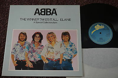 """ABBA The Winner Takes It All (Epic UK Original 12"""" 1980) Pop Up Sleeve. EX+"""