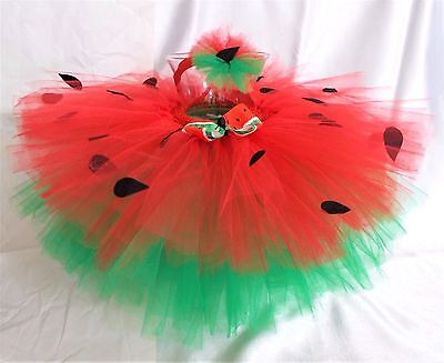 WATERMELON TUTU -TODDLER,GIRL,BABY,INFANT,-2 PIECES-FITS 18 mos - 3t HANDMADE