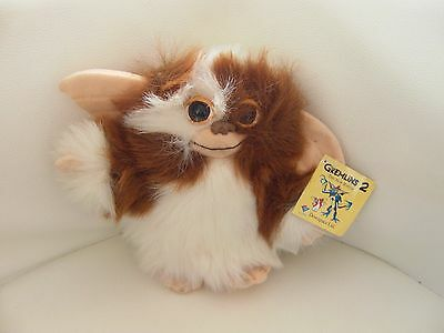 "Brand New with tags 7"" Vintage Gremlins 2 Gizmo Mogwai soft toy plush 1998"
