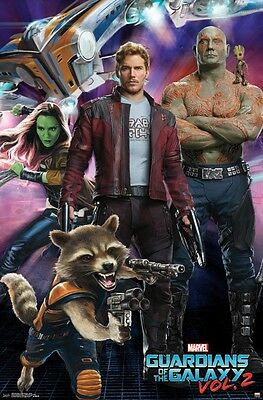 "Marvel's Guardians of the Galaxy 2 - Chris Pratt - Movie Poster ""22 x 34"" - NEW"