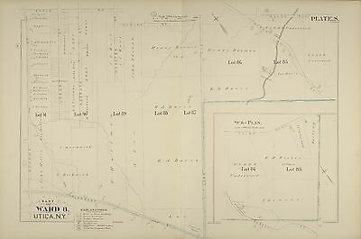 1883 Utica New York Ward 8 Mohawk St - Tilden Av & Eagle - Pleasant St Atlas Map