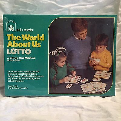 Vintage Game - Edu-Cards The World About Us Lotto - NIB Sealed Game RARE HTF G