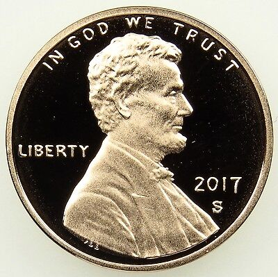 2017 S Deep Cameo Proof Lincoln Shield Cent Penny (B02)