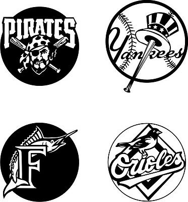 DXF CDR File For CNC Plasma or Laser Cut - Baseball Teams Logos . Ready to cut