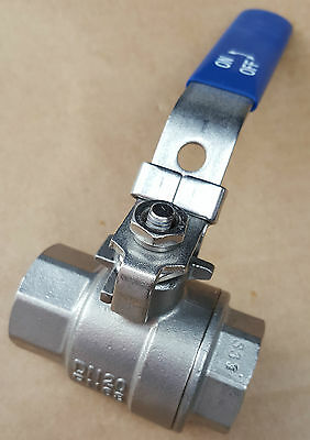 "3/4"" Two-Piece Stainless Steel Ball Valve Female Ports PN63 DN20"