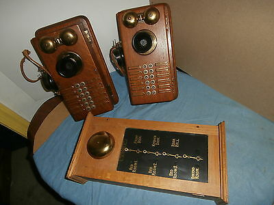 Antique Partrick Wilkins Annunciator Call Bell 2 Samson Intercom Telephone Boxes