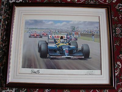 Victory Limited Edition Signed Print Nigel Mensell/Tony Smith Formula 1