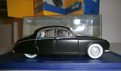 ATLAS TINTIN CAR #67 JAGUAR MARK I black 1955 fr. The Red Sea Sharks car voiture
