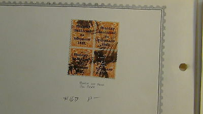 Ireland stamp collection on Minkus pages to '90