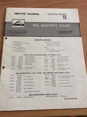 His Masters Voice Service Manual Television PX VA