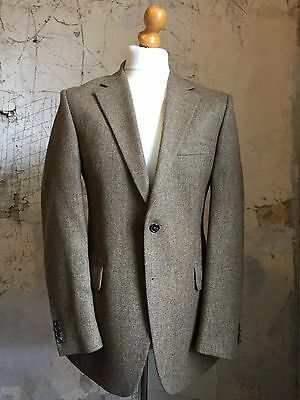 Savile Row Gieves & Hawkes Brown Tweed Jacket size 40