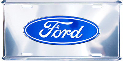 "Ford Silver Trucks Cars 6""x12"" Aluminum License Plate Tag"