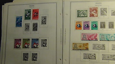 Ruanda Rwanda stamp collection on Minkus pages  to '84