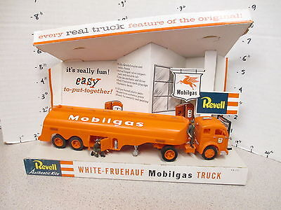 Revell 1950s model kit hobby shop factory store display Mobilgas tanker truck