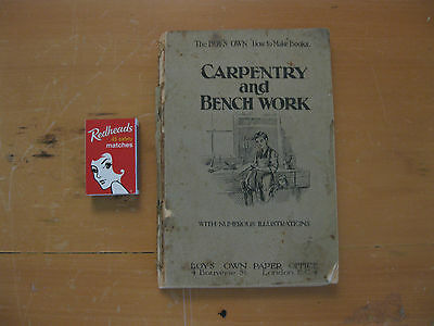 BOYS OWN CARPENTRY AND BENCHWOOK BOOK Woodwork furniture making 201 pp 1920's??