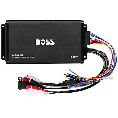Boss Audio 500W Max 4 Channel Full Range Class A/B Amplifier with Remote MC900B