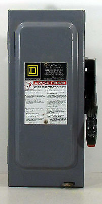 1 Used Square D H322N Series Fo5 Fusable Disconnect Saftey Switch *make Offer*